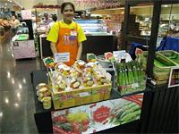 県産農産物の販売(バンコク市内)